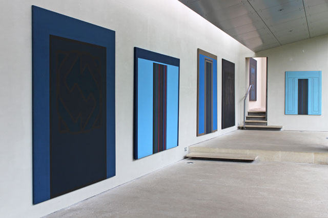 Robyn Denny: Paintings from the 1960s, installation view. Copyright the artist, courtesy the New Art Centre, Roche Court Sculpture Park.