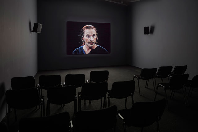 Tacita Dean. Event for a Stage, 2015. 16mm colour film, optical sound, 50 minutes. Installation view, Frith Street Gallery, London, 2016. Courtesy the artist; Frith Street Gallery, London and Marian Goodman Gallery, New York/Paris. Photograph: Zan Wimberley.