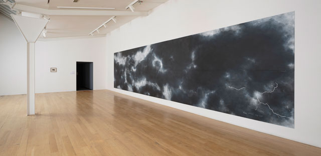 Tacita Dean. When first I raised the Tempest, 2016. Chalk on blackboard, 244 x 976 cm. Photograph: Fredrik Nilsen. Courtesy the artist; Frith Street Gallery, London and Marian Goodman Gallery, New York/Paris.