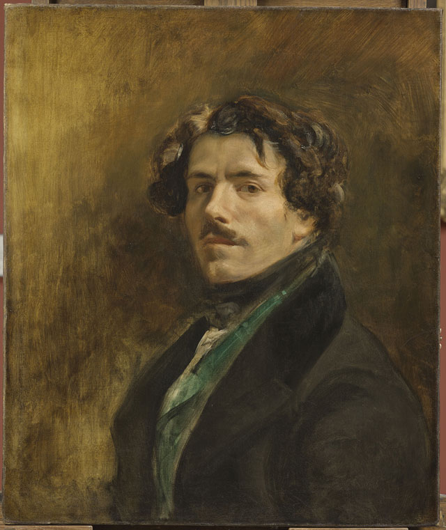 Eugène Delacroix. Self-Portrait with Green Vest, c1837. Oil on canvas, 65 x 54 cm. Musée du Louvre, Paris © RMN-Grand Palais (musée du Louvre), Michel Urtado.
