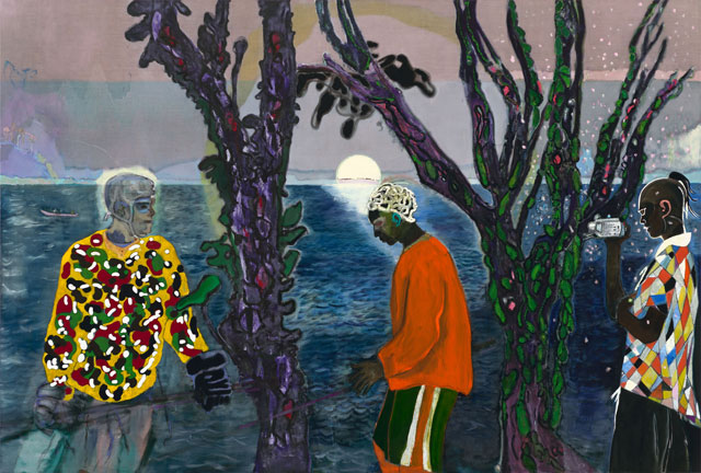 Peter Doig, Two Trees, 2017. Oil on linen, 240 x 355 cm. Courtesy Michael Werner Gallery New York and London.