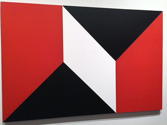 Dean Fleming. Snap Roll, 1965. Acrylic on canvas, 66 x 99 in. Installation view. Photograph: Jill Spalding.