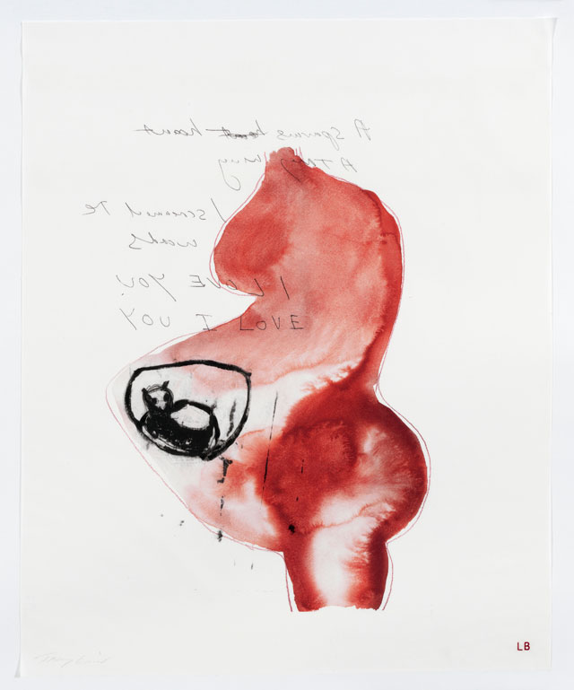 Louise Bourgeois and Tracey Emin. A sparrow's heart, 2009-2010. Archival dyes printed on cloth, 76.2 x 61cm (30 X 24.02 in). © Tracey Emin.