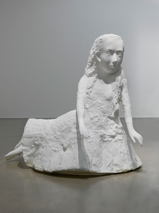 Kiki Smith. Seer (Alice I), 2005. White auto body paint on bronze, 158.8 x 141 x 124.5 cm (62 1/2 x 55 1/2 x 49 in). © The artist. Courtesy Private Collection, London.