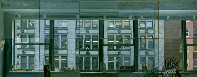 Peter Dreher. New Yorker Fenster, 1980. Oil on canvas.