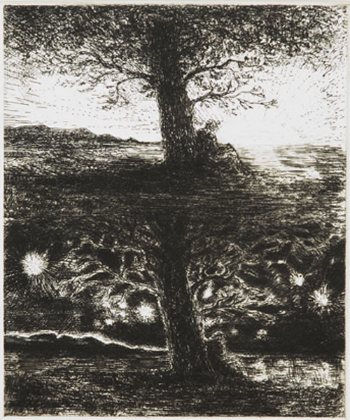 Christopher Le Brun. Fifty Etchings, 2005 #47.