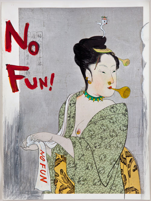 Yoshitomo Nara. No Fun! (in the floating world), 1999. Courtesy of Eileen Harris Norton.
