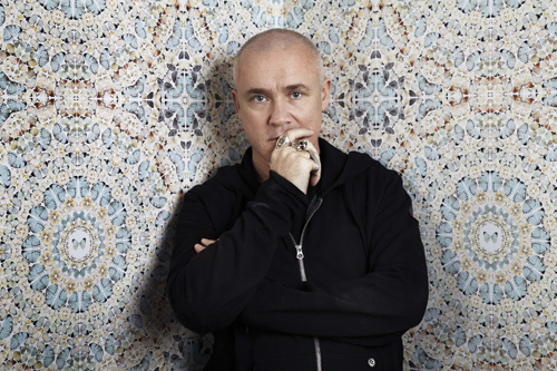 Portrait of Damien Hirst. Photograph:  Billie Scheepers. © Damien Hirst and Science Ltd. All rights reserved, DACS 2012.