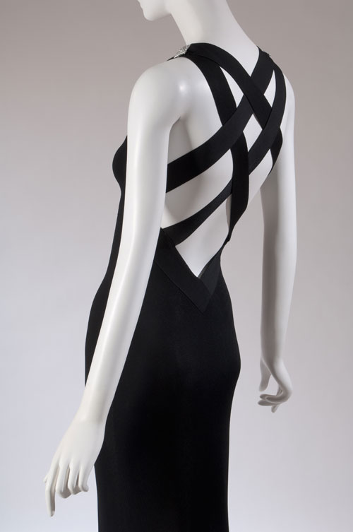 Dress by Azzedine Alaïa. From the collection of Daphne Guinness, to be featured in the exhibition <em>Daphne Guinness</em>. Photograph courtesy The Museum at FIT.