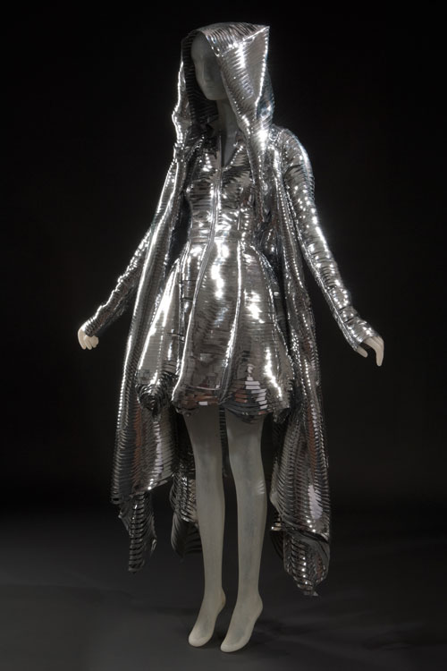 Dress and hooded coat by Gareth Pugh. From the collection of Daphne Guinness, to be featured in the exhibition <em>Daphne Guinness</em>. Photograph courtesy The Museum at FIT.