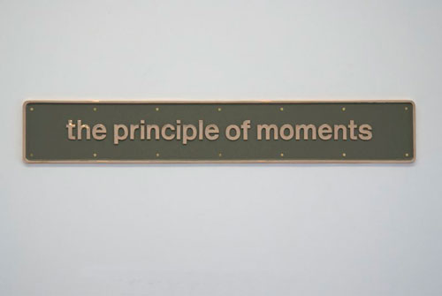 Darren Almond. <em>The principle of moments,</em> 2010. Bronze and paint, 8 11/16 x 53&#8539 x 13/16 inches (22 x 135 x 2 cm).