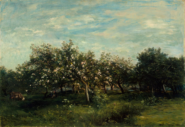 Charles François Daubigny. Apple Blossoms, 1873. The Metropolitan Museum of Art, New York, Bequest of Collis P. Huntington, 1900 © The Metropolitan Museum of Art/Art Resource/Scala, Florence.