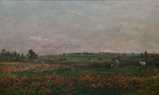 Charles François Daubigny. Fields in the month of June, 1874. Herbert F. Johnson Museum of Art, Cornell University, Ithaca, New York, gift of Louis V. Keeler, Class of 1911, and Mrs Keeler.