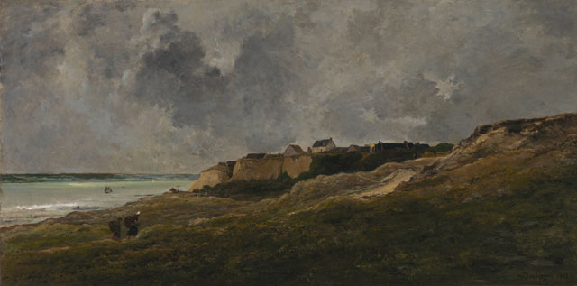 Charles François Daubigny. Cliffs at Villerville-sur-Mer, 1864. Salon, completed 1872, The Mesdag Collection, The Hague.