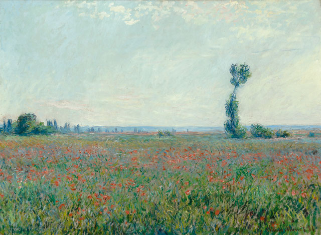 Claude Monet. Field with poppies, 1881. Oil on canvas, 58 x 79 cm. Museum Boijmans van Beuningen, Rotterdam.