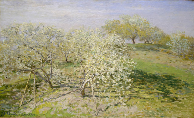 Claude Monet. Spring (Fruit Trees in Bloom), 1873. The Metropolitan Museum of Art, New York, Bequest of Mary Livingston Willard, 1926 © The Metropolitan Museum of Art/Art Resource/Scala, Florence.