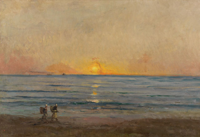 Charles-François Daubigny. Sunset near Villerville, 1874. The Mesdag Collection, The Hague.
