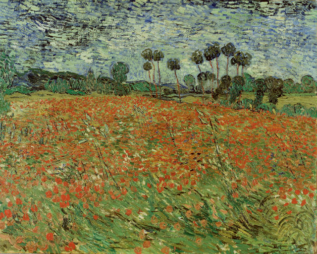 Vincent van Gogh. Poppy field, Auvers-sur-Oise, 1890. Collection Gemeentemuseum Den Haag, loan Cultural Heritage Agency of the Netherlands.