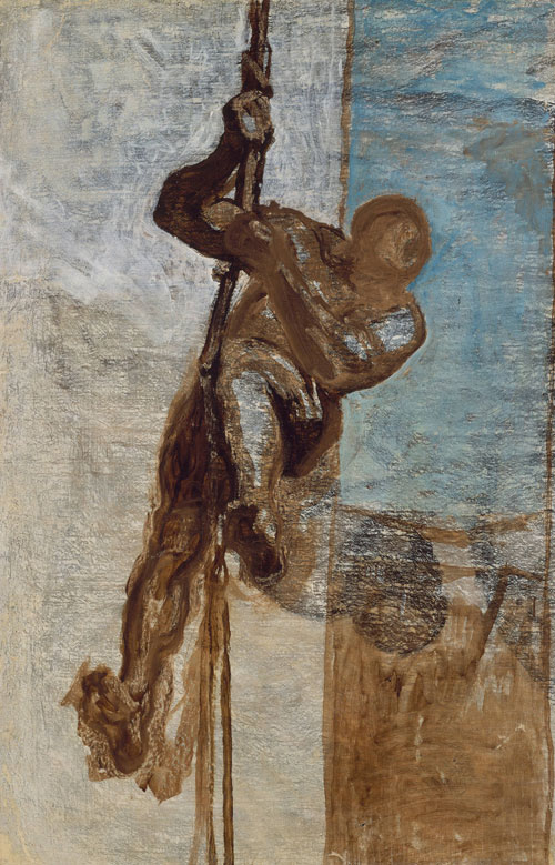 Honoré Daumier. Man on a Rope, c.1858. Oil on canvas, 110.5 x 72.4 cm. Museum of Fine Arts, Boston. Tompkins Collection - Arthur Gordon Tompkins Fund.