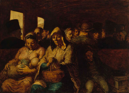 Honoré Daumier. The Third Class Railway Carriage, 1862-4. Oil on canvas, 65.4 x 90.2 cm. The Metropolitan Museum of Art, New York. Photograph: © The Metropolitan Museum of Art/Art Resource/Scala, Florence.