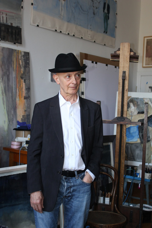 David Remfry in his Chelsea Hotel studio, November 2011. Photograph: Miguel Benavides. © Studio International.