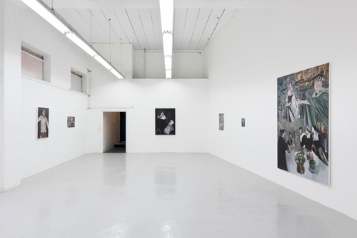 Nathan Cash Davidson: Thou annointest my head with oil, Hannah Barry Gallery, London, 18 June – 27 July 2015. Installation view (2).