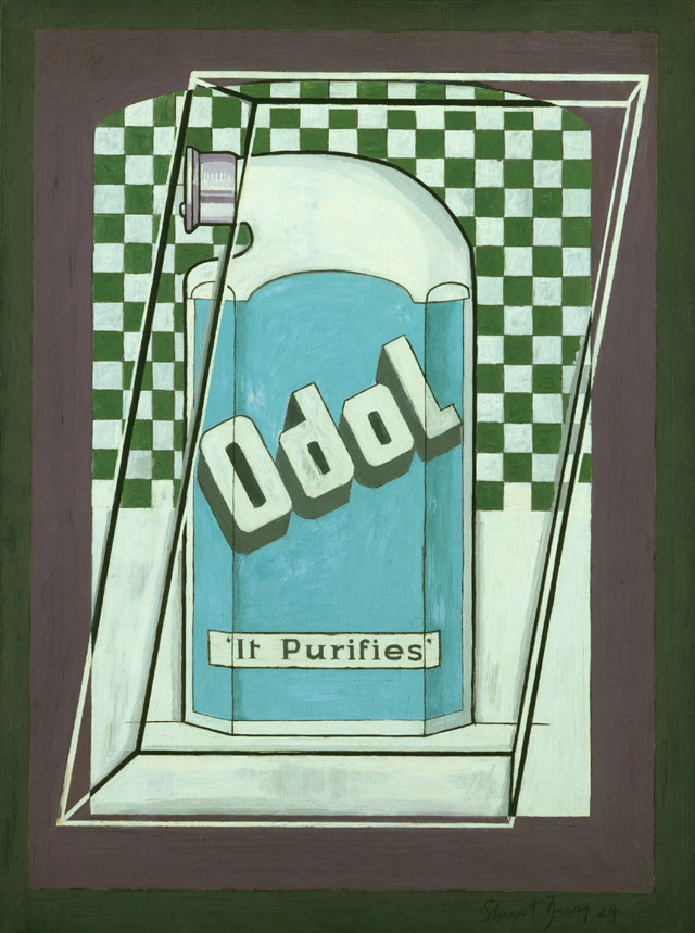 Stuart Davis. Odol, 1924. Oil on cardboard, 24 x 18 in (60.9 x 45.6 cm). The Museum of Modern Art, New York; Mary Sisler Bequest (by exchange) and purchase, 1997. © Estate of Stuart Davis / Licensed by VAGA, New York, NY.