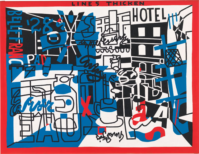 Stuart Davis. The Paris Bit, 1959. Oil on canvas, 46 1/8 × 60 1/16 in (117.2 × 152.6 cm). Whitney Museum of American Art, New York; purchase, with funds from the Friends of the Whitney Museum of American Art 59.38. © Estate of Stuart Davis / Licensed by VAGA, New York, NY.