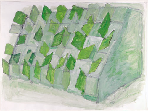 Phyllida Barlow. <em>Untitled</em>, c1998. Pencil and acrylic. Leeds Museums and Galleries (Art Gallery).