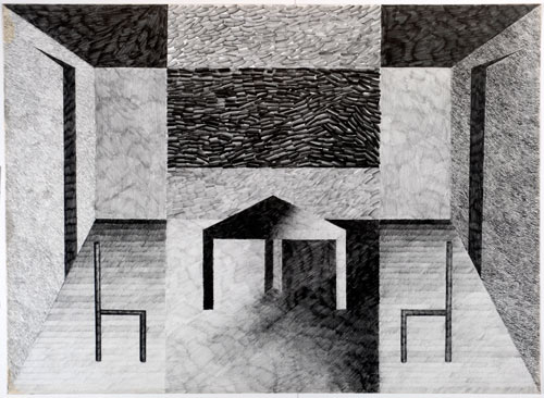 Phyllida Barlow. <em>Untitled</em>, 1975. Pencil on paper. Leeds Museums and Galleries (Art Gallery).