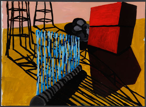 Phyllida Barlow. <em>Untitled</em>, 2001. Acrylic on paper. Leeds Museums and Galleries (Art Gallery).