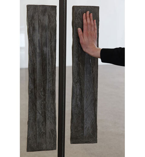 Michael Dean. The handles of the doors leading to the galleries. <em>yes (working title),</em> 2012. Concrete. <em>no (working title),</em> 2012. Concrete. Courtesy of the artist, Herald St, London and Supportico Lopez, Berlin. Photograph: Jerry Hardman-Jones.