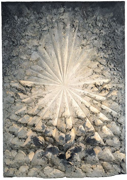 Jay DeFeo. The Rose, 1958-66. Oil with wood and mica on canvas, 128 7/8 x 92 1/4 x 11 in. (327.3 x 234.3 x 27.9 cm). Whitney Museum of American Art, New York; gift of The Jay DeFeo Trust, Berkeley, CA, and purchase with funds from the Contemporary Painting and Sculpture Committee and the Judith Rothschild Foundation 95.170. © 2012 The Jay DeFeo Trust/Artists Rights Society (ARS), New York. Photograph: Ben Blackwell.