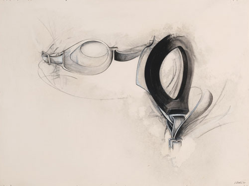 Jay DeFeo. Untitled, from the Water Goggles series, 1977. Synthetic polymer, charcoal, ink, grease pencil and graphite on paper, 15 x 20 in. (38.1 x 50.8 cm). Private collection. © 2012 The Jay DeFeo Trust/Artists Rights Society (ARS), New York. Photograph: Ben Blackwell.