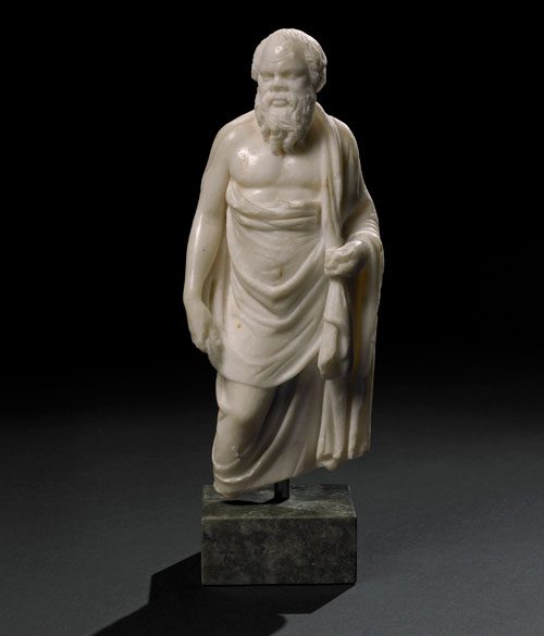 Marble statuette of Socrates. A Hellenistic original of the 2nd century BC, or a Roman copy, Alexandria, Egypt. © The Trustees of the British Museum.
