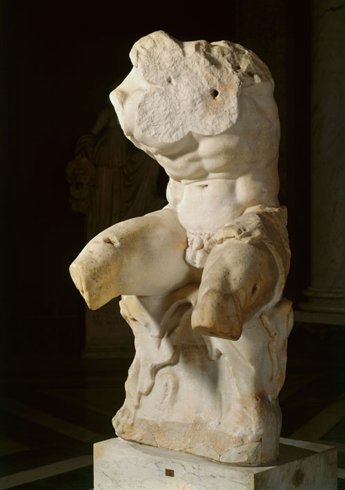 Belvedere Torso, 1st century BC. Vatican, Museo, Pio-Clementino. Height 220cm x width 92cm. © 2015. Photo Scala, Florence.