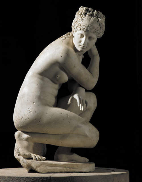 Marble statue of a naked Aphrodite crouching at her bath, also known as Lely's Venus (detail). Roman copy of a Greek original, 2nd century AD. Height 120cm. Royal Collection Trust. © Her Majesty Queen Elizabeth II 2015.