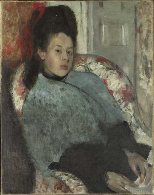 Degas, Hilaire-Germain-Edgar (1834-1917), Portrait of Elena Carafa, probably 