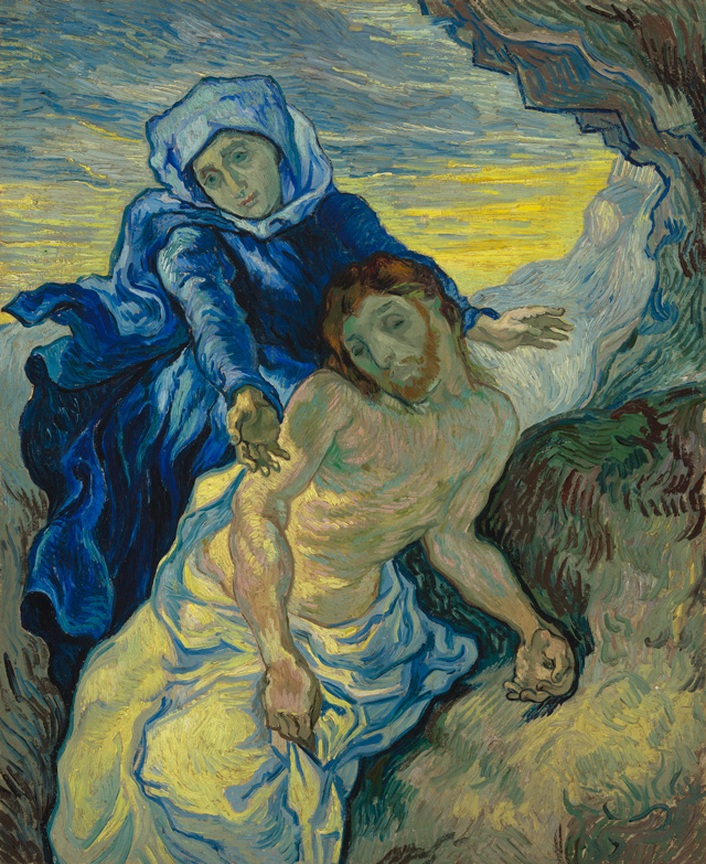 Vincent van Gogh. Pietà (after Delacroix), 1889. Oil on canvas, 73 x 60.5 cm. © Van Gogh Museum (Vincent Van Gogh Foundation), Amsterdam .