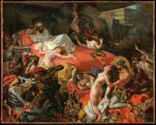 Eugène Delacroix. The Death of Sardanapalus (reduced replica), 1846. Oil on canvas, 73.7 x 82.4 cm. © Philadelphia Museum of Art, Pennsylvania. The Henry P. McIlhenny Collection in memory of Frances P. McIlhenny, 1986.