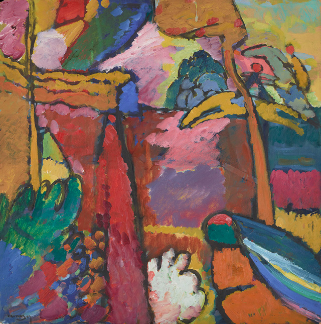 Vassily Kandinsky. Study for Improvisation V, 1910. Oil on pulp board, 70.2 x 69.9 cm. © The Minneapolis Institute of Art. Gift of Bruce B. Dayton.