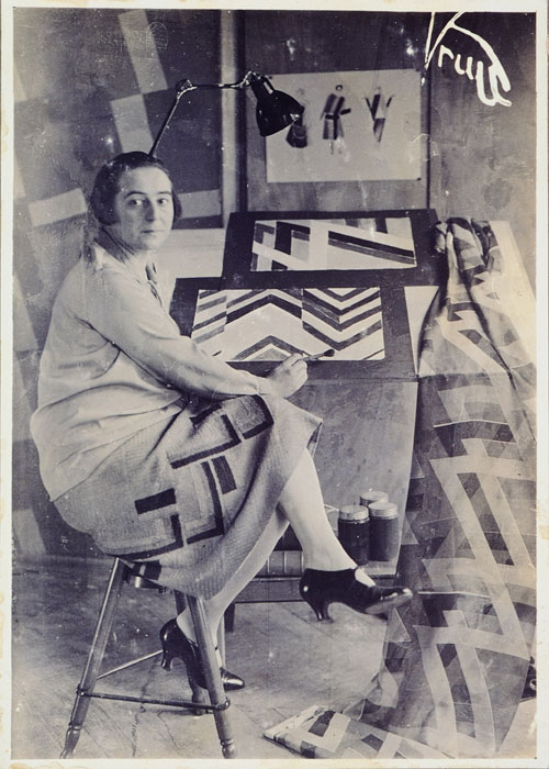 Sonia Delaunay in her studio at boulevard Malesherbes, Paris, France, 1925. Photographed by Germaine Krull. Bibliothéque Nationale de France. © L & M Services B.V. The Hague 20100623.
