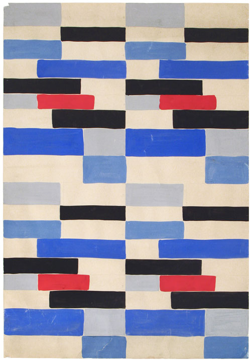 Sonia Delaunay. <em>Design B53</em>,  1924. Gouache on paper. Private collection. © L & M Services B.V. The Hague 20100623. Photo © private collection.