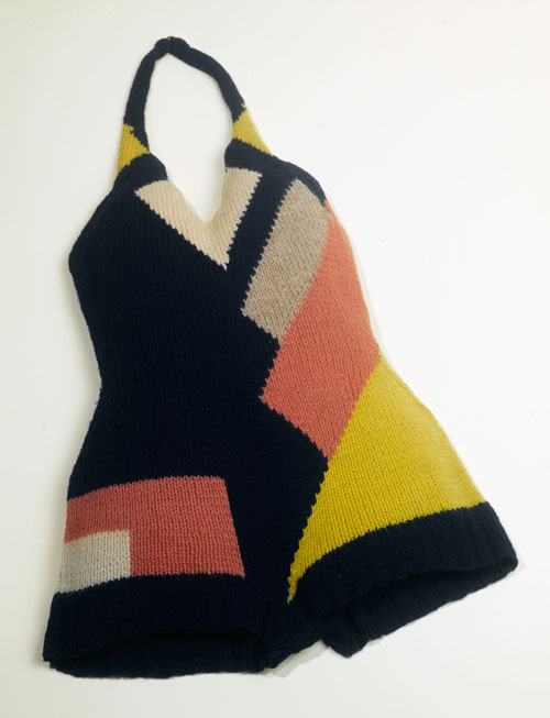 Bathing suit designed by Sonia Delaunay, France c1928. Knitted wool. Musée de la Mode de la Ville de Paris, Musée Galliera. © L & M Services B.V. The Hague 20100623.