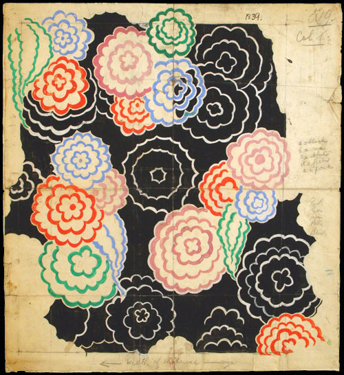 Sonia Delaunay. <em>Design 253</em>,  1928-30. Gouache, ink and pencil on paper. Private collection. © L & M Services B.V. The Hague 20100623.