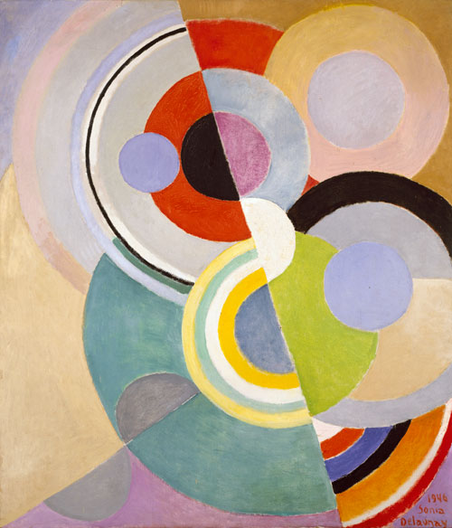 Sonia Delaunay. <em>Rythme Coloré</em>,  1946. Oil on canvas. Private collection. © L & M Services B.V. The Hague 20100623. Photo © private collection.