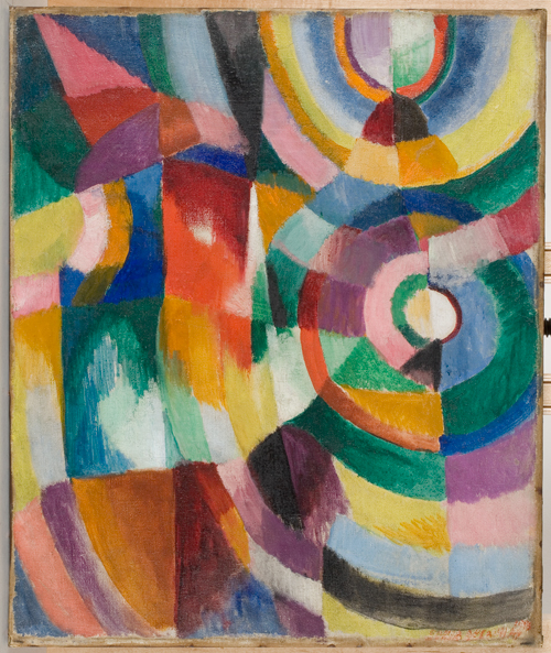Sonia Delaunay. Prismes électriques, 1913-1914. © Pracusa 2013057. © Davis Museum at Wellesley College, Wellesley, MA.