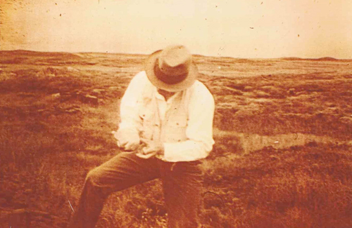 Joseph Beuys. On The Moor of Rannoch, Scotland, Summer 1970.