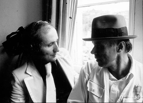 Richard Demarco and Joseph Beuys, 1974. Photograph courtesy Richard Demarco Archive www.demarco-archive.ac.uk