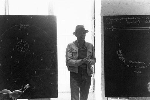Joseph Beuys, One Hundred Days of the Free International University Event, Documenta Six, Kassel, Germany. Photograph: Richard Demarco. Courtesy Richard Demarco Archive www.demarco-archive.ac.uk